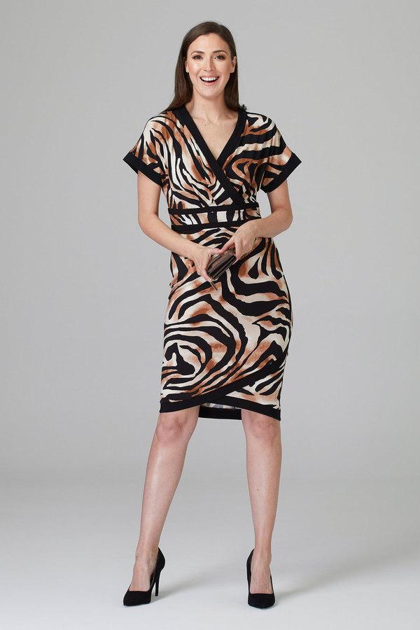 Joseph Ribkoff Robes Noir/Beige Style 201005
