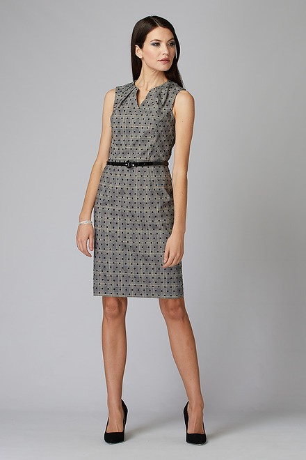 Joseph Ribkoff Black/White/Brown Dresses Style 201006