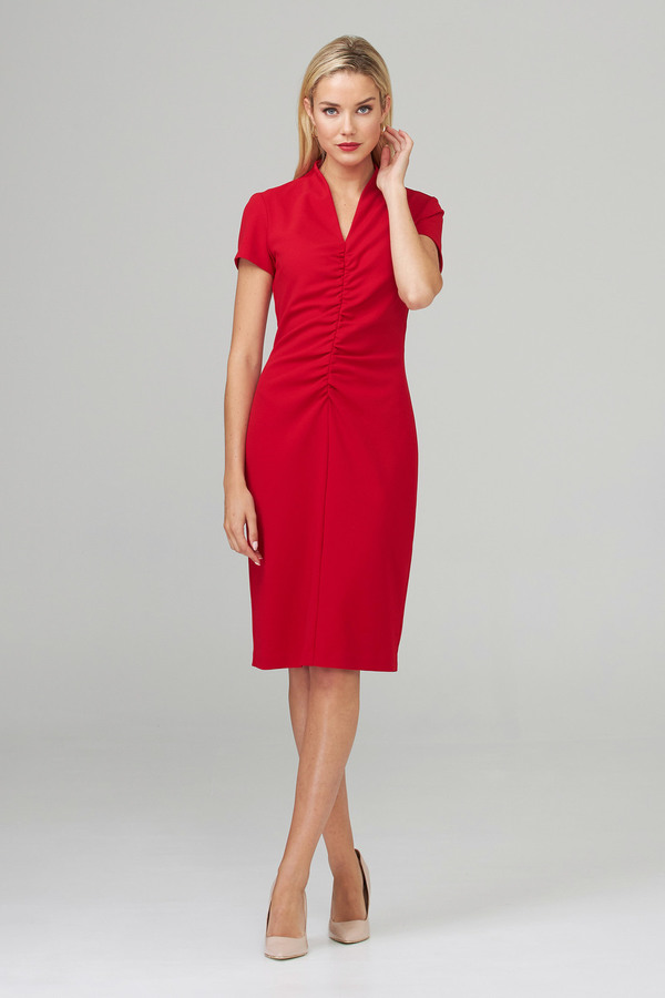 Joseph Ribkoff Lipstick Red 173 Dresses Style 201014