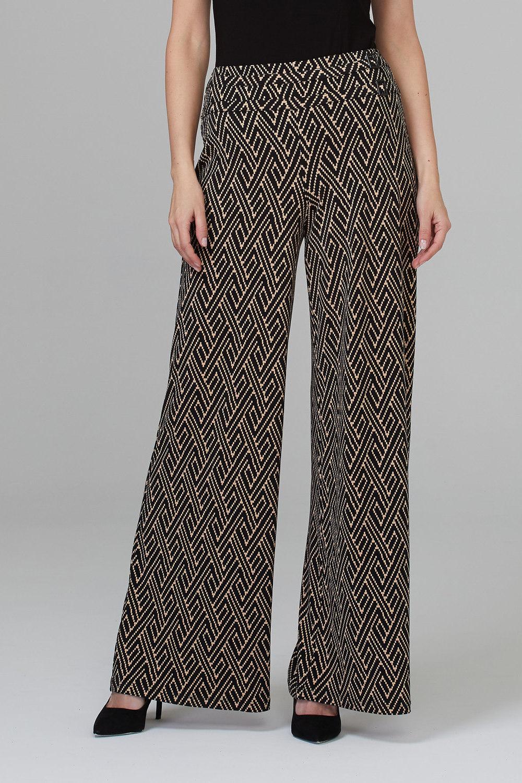 Joseph Ribkoff Black/Beige Pants Style 201034