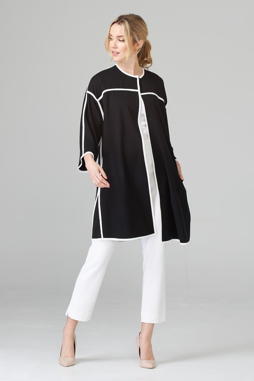 Joseph Ribkoff Vêtements d'extérieur Noir/Vanille Style 201039
