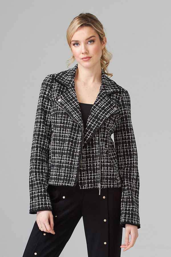Joseph Ribkoff Jacket Style 201053. Black/White