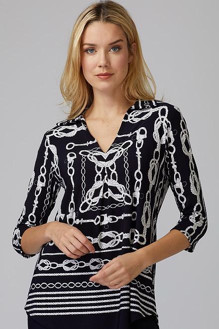 Joseph Ribkoff Chemises et blouses Bleu Minuit/Vanille Style 201089