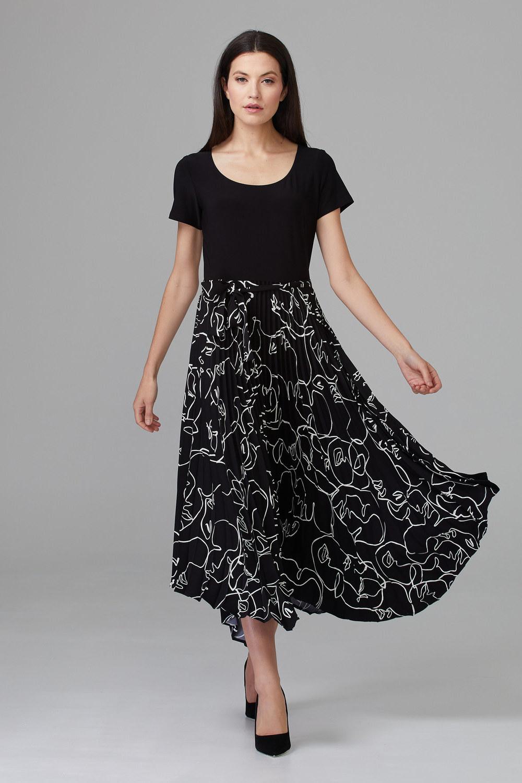 Joseph Ribkoff Robes Noir/Vanille Style 201107