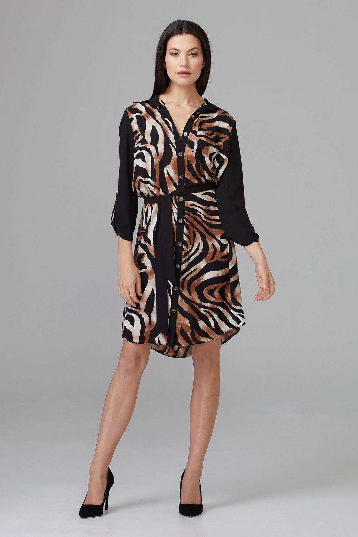Joseph Ribkoff Robes Noir/Beige Style 201118
