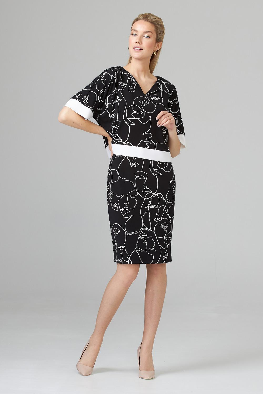 Joseph Ribkoff Robes Noir/Vanille Style 201119