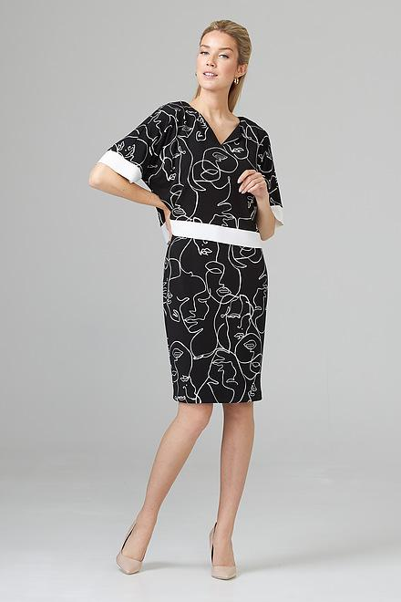 Joseph Ribkoff Black/Vanilla Dresses Style 201119