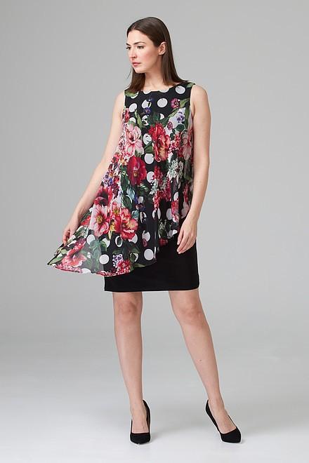 Joseph Ribkoff Black/Multi Dresses Style 201122