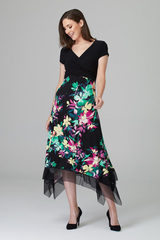Joseph Ribkoff Black/Multi Dresses Style 201134
