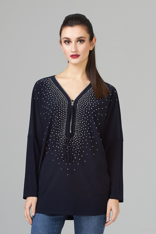 Joseph Ribkoff Midnight Blue 40 Shirts & Blouses Style 201145