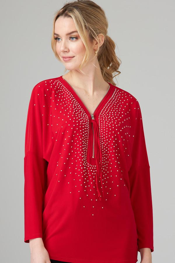 Joseph Ribkoff Lipstick Red 173 Shirts & Blouses Style 201145