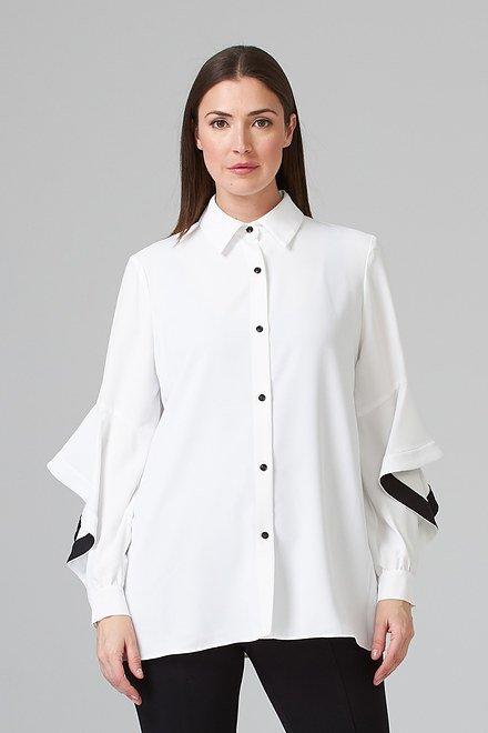Joseph Ribkoff Vanilla/Black Shirts & Blouses Style 201148