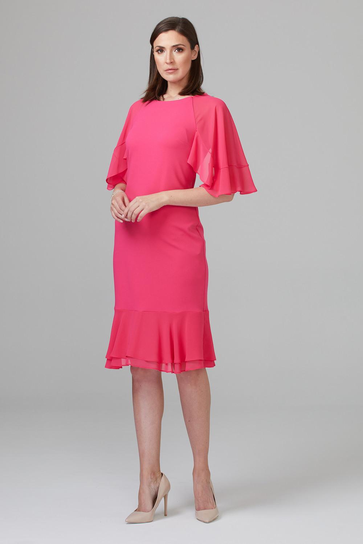 Joseph Ribkoff Robes Rose Vif Style 201153