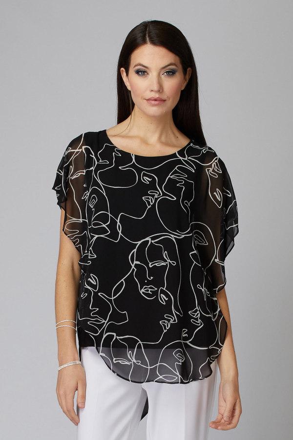 Joseph Ribkoff Chemises et blouses Noir/Vanille Style 201155