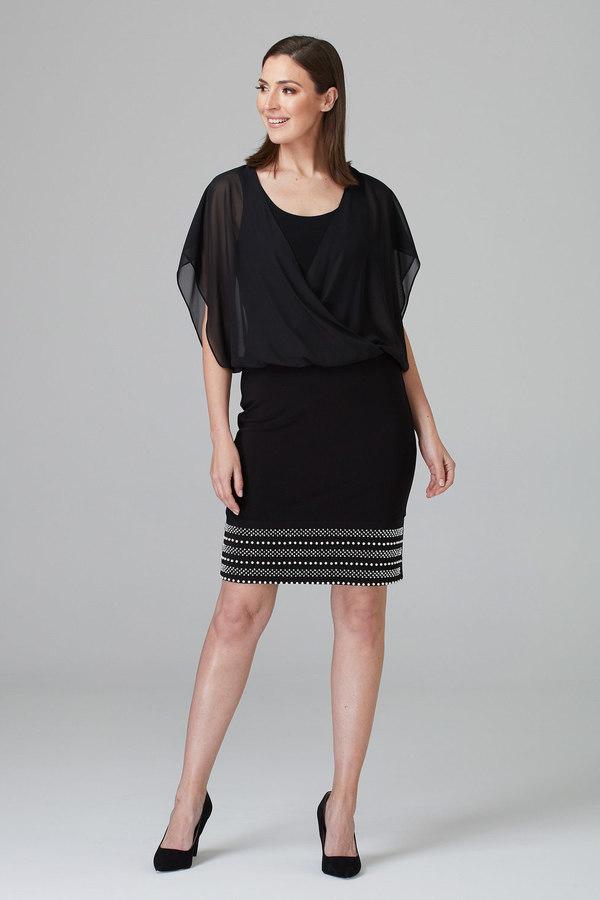 Joseph Ribkoff Black Dresses Style 201166