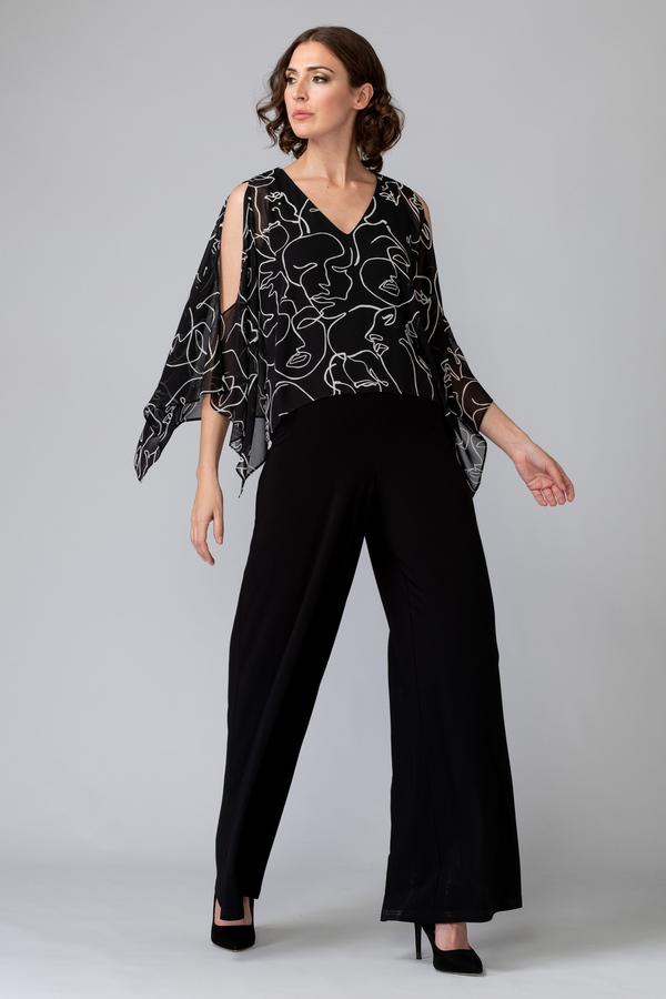 Joseph Ribkoff Black/Vanilla Jumpsuits Style 201169