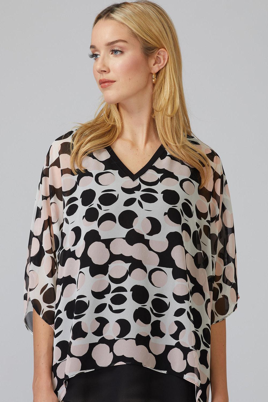 Joseph Ribkoff Vanilla/Black Shirts & Blouses Style 201170