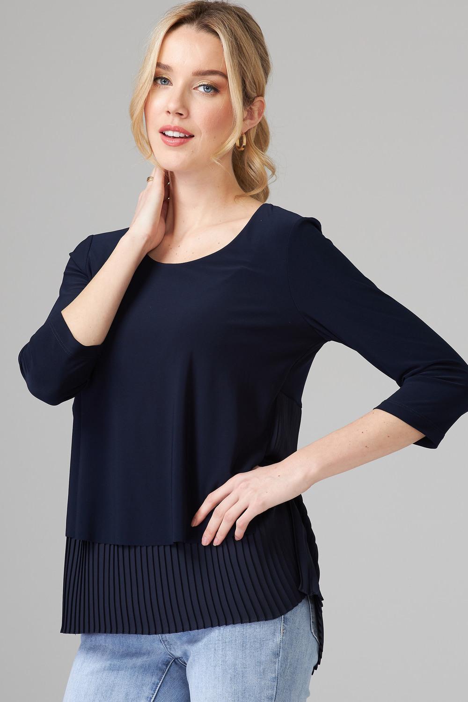 Joseph Ribkoff Tee-shirts et camisoles Bleu Minuit 40 Style 201171