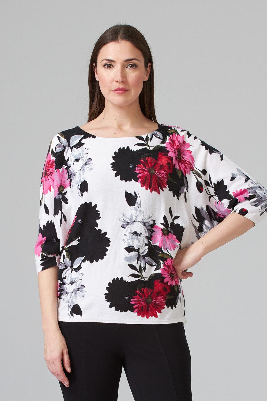 Joseph Ribkoff WHITE/FLORAL Shirts & Blouses Style 201181