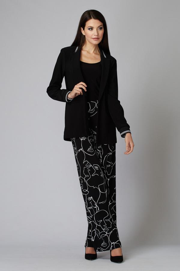 Joseph Ribkoff Pantalons Noir/Vanille Style 201184