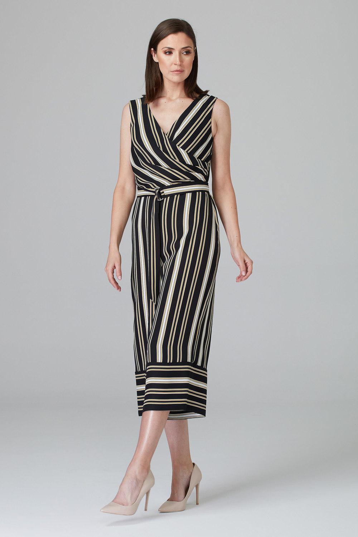 Joseph Ribkoff Combinaisons Noir/Blanc/Or Style 201187