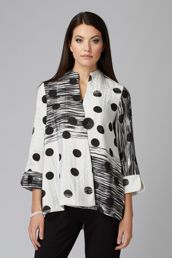 Joseph Ribkoff Vanilla/Black Jackets Style 201208