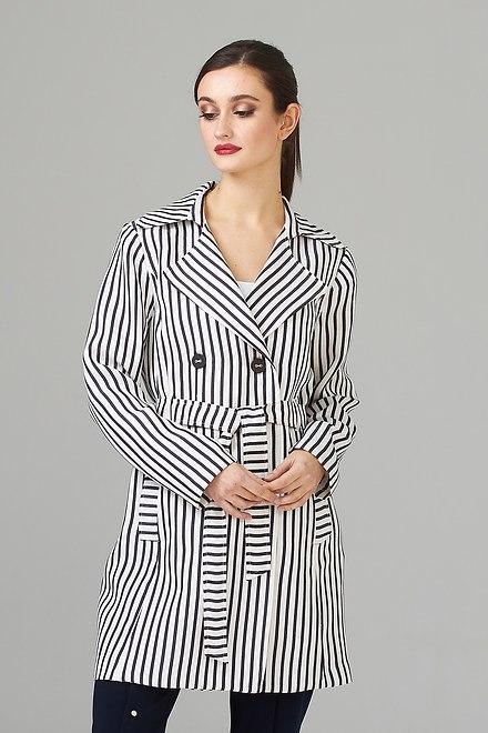 Joseph Ribkoff Vêtements d'extérieur Bleu Marine/Blanc Cassé Style 201253