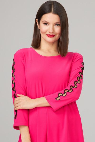 Joseph Ribkoff Tee-shirts et camisoles Rose Vif/Noir Style 201259