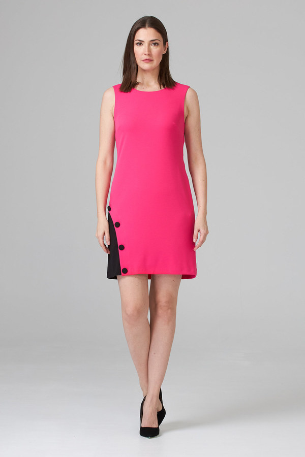 Joseph Ribkoff HYPER PINK/BLACK Dresses Style 201266