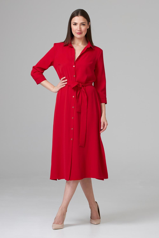 Joseph Ribkoff Lipstick Red 173 Dresses Style 201276