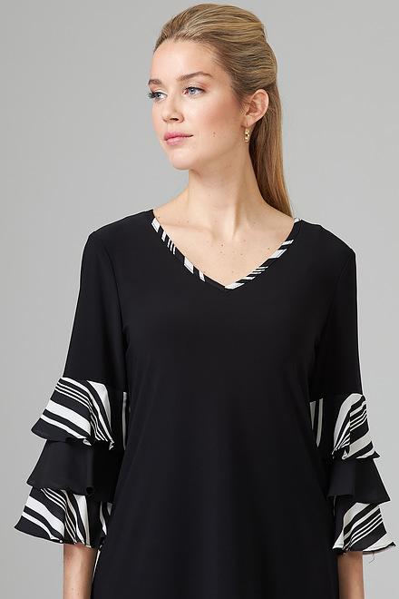 Joseph Ribkoff Chemises et blouses Noir/Vanille Style 201279
