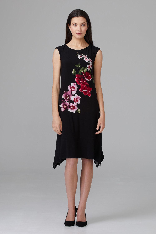 Joseph Ribkoff Robes Noir/Multi Style 201287