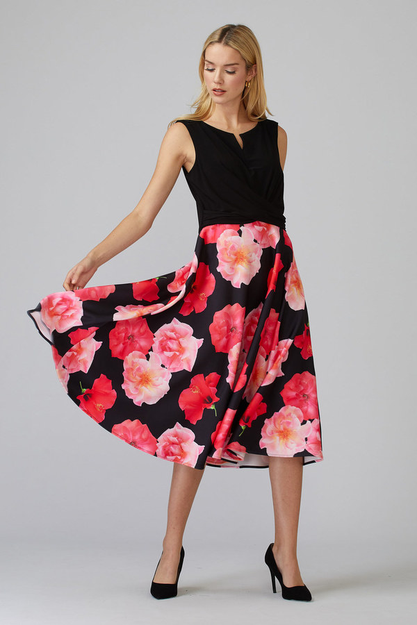 Joseph Ribkoff Black/Multi Dresses Style 201289