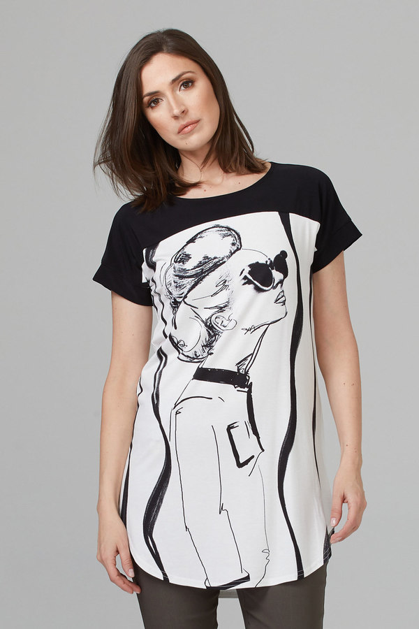 Joseph Ribkoff Tuniques Noir/Blanc Style 201300