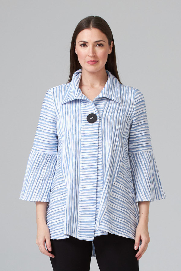 Joseph Ribkoff White/Blue Jackets Style 201309