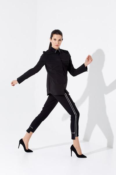 Joseph Ribkoff Black/Vanilla Pants Style 201310