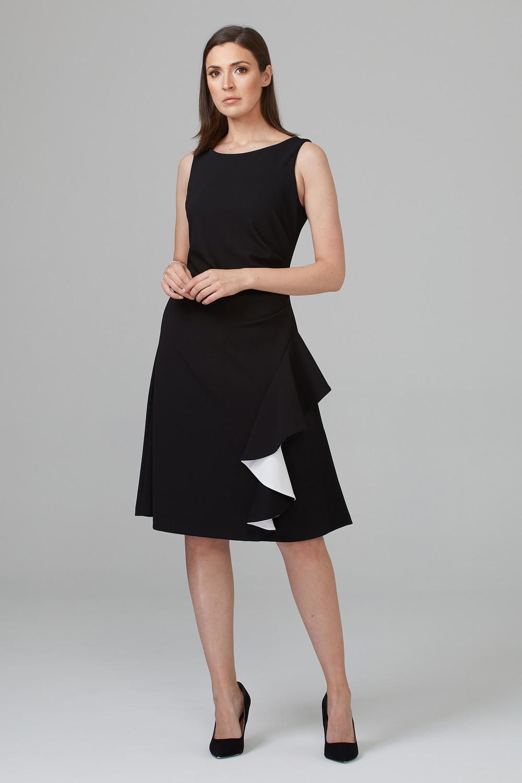 Joseph Ribkoff Black/Vanilla Dresses Style 201319