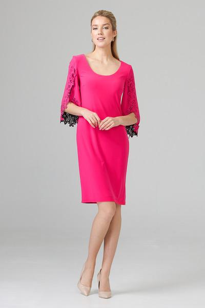 Joseph Ribkoff Robes Rose Vif/Noir Style 201320