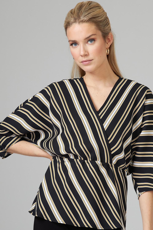 Joseph Ribkoff Chemises et blouses Noir/Blanc/Or Style 201332