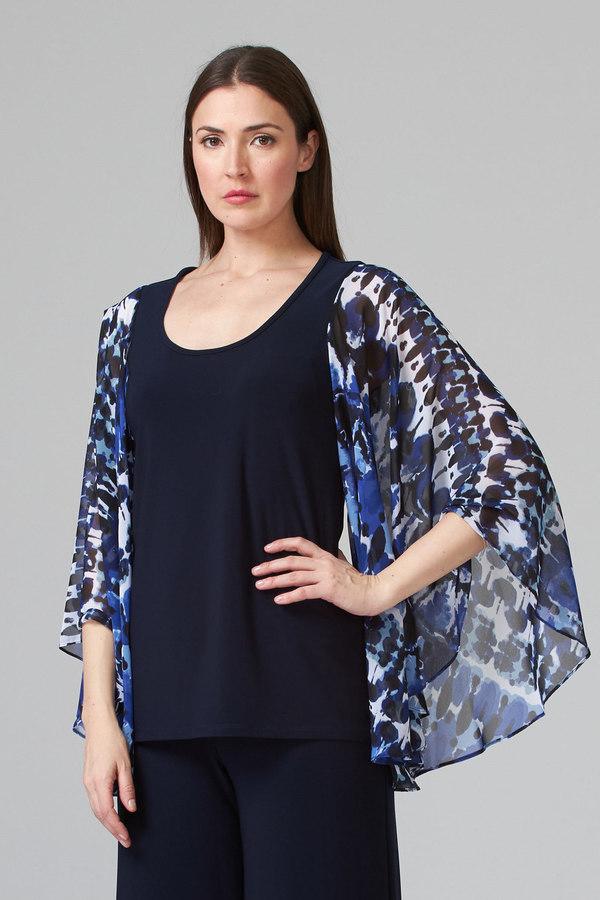 Joseph Ribkoff Blue/Black Shirts & Blouses Style 201333