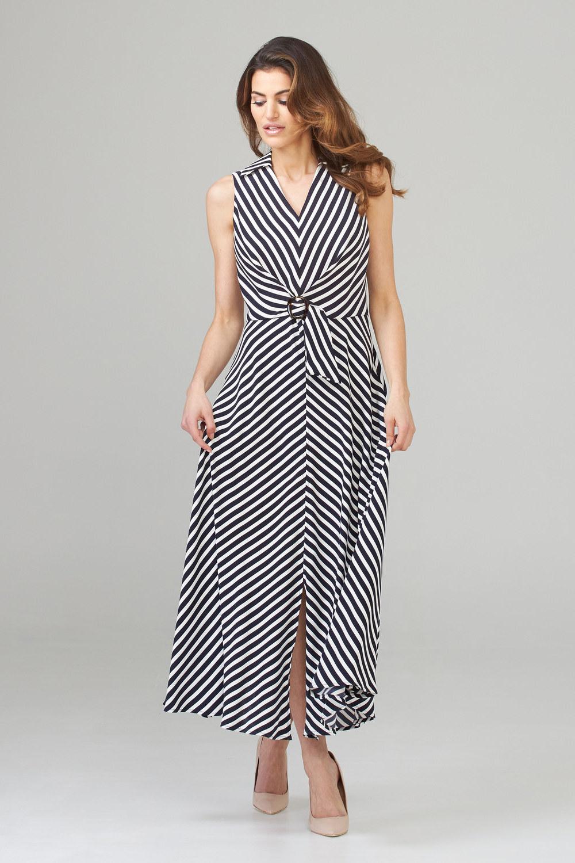 Joseph Ribkoff Midnight Blue/Vanilla Dresses Style 201340