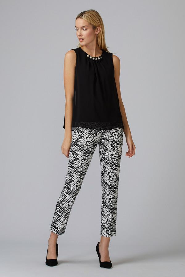 Joseph Ribkoff Pantalons Noir/Vanille Style 201353