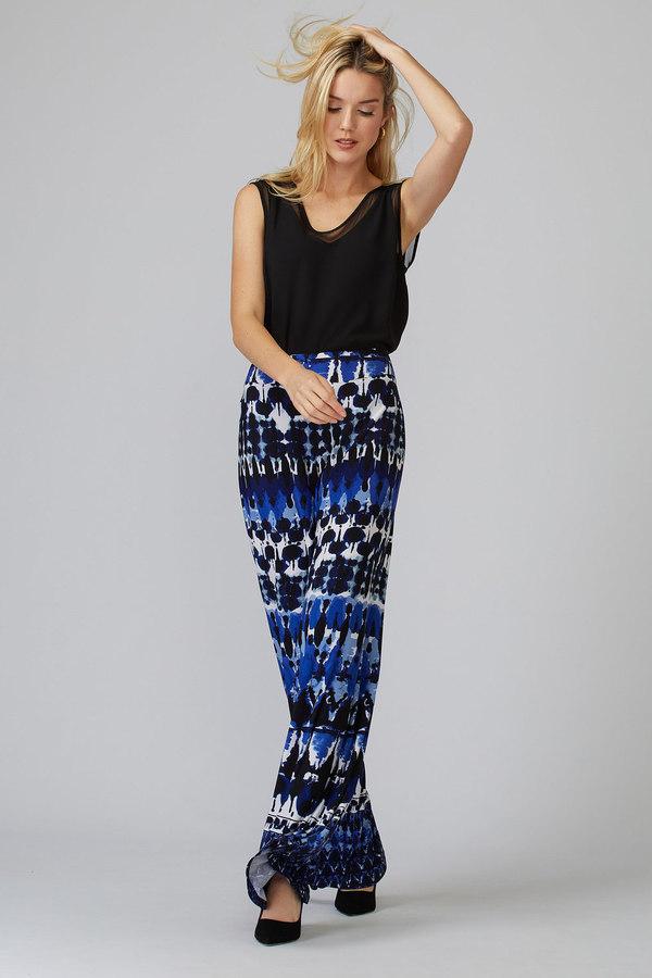 Joseph Ribkoff Blue/Black Pants Style 201357