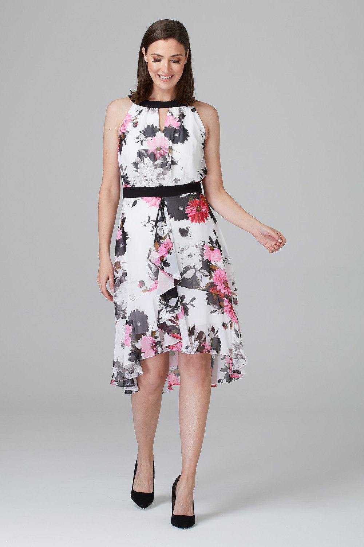 Joseph Ribkoff WHITE/MULTI Dresses Style 201359