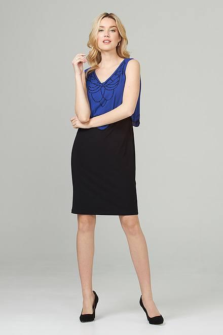 Joseph Ribkoff Black/Royal Sapphire Dresses Style 201361