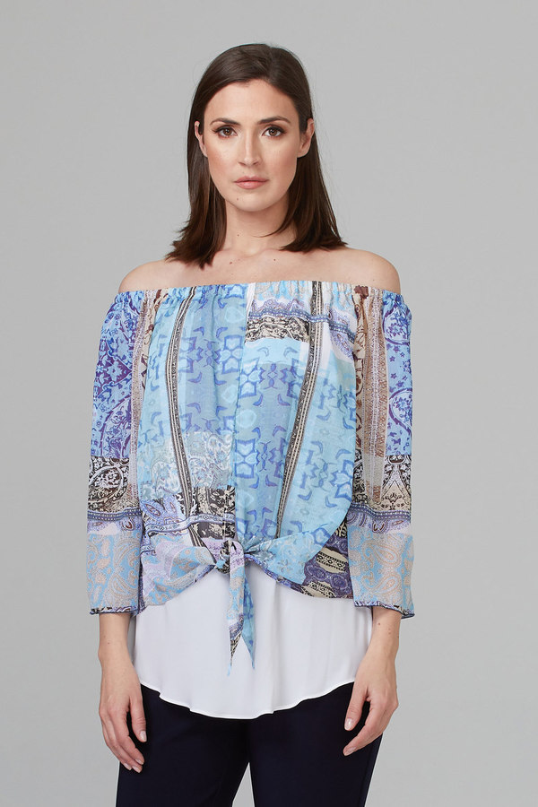 Joseph Ribkoff Multi Shirts & Blouses Style 201364