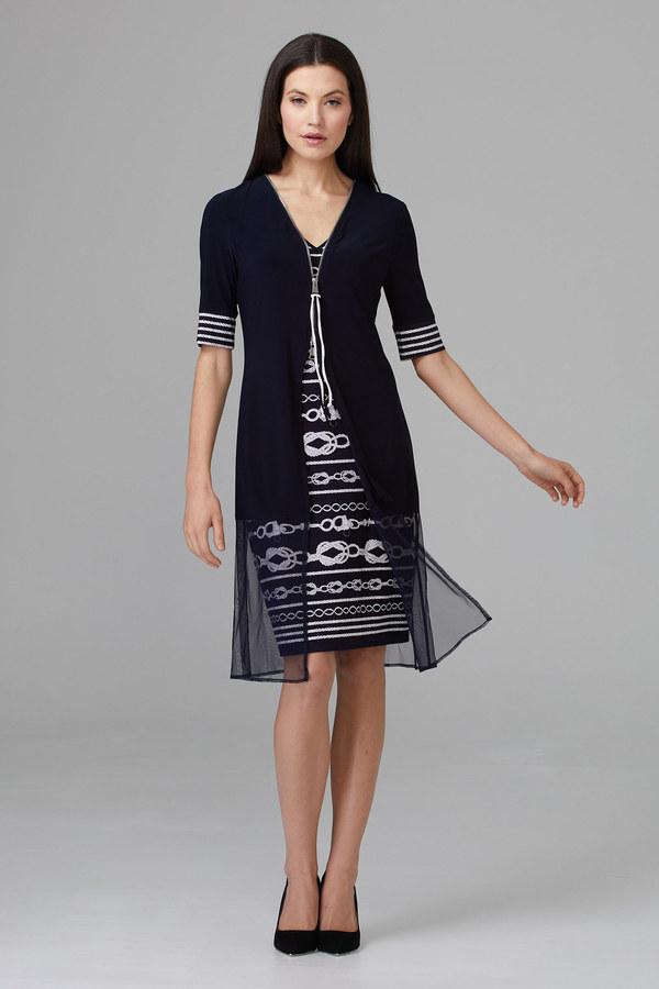 Joseph Ribkoff Robes Bleu Minuit/Vanille Style 201365