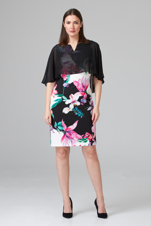 Joseph Ribkoff Robes Noir/Blanc/Multi Style 201369