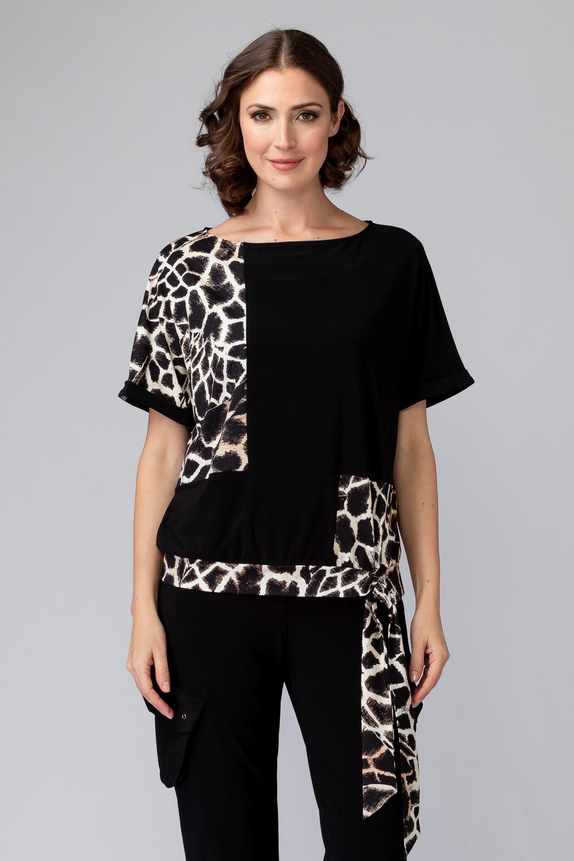 Joseph Ribkoff Tee-shirts et camisoles Noir/Beige Style 201374
