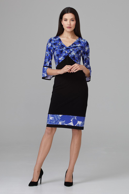 Joseph Ribkoff Black/Blue Dresses Style 201376